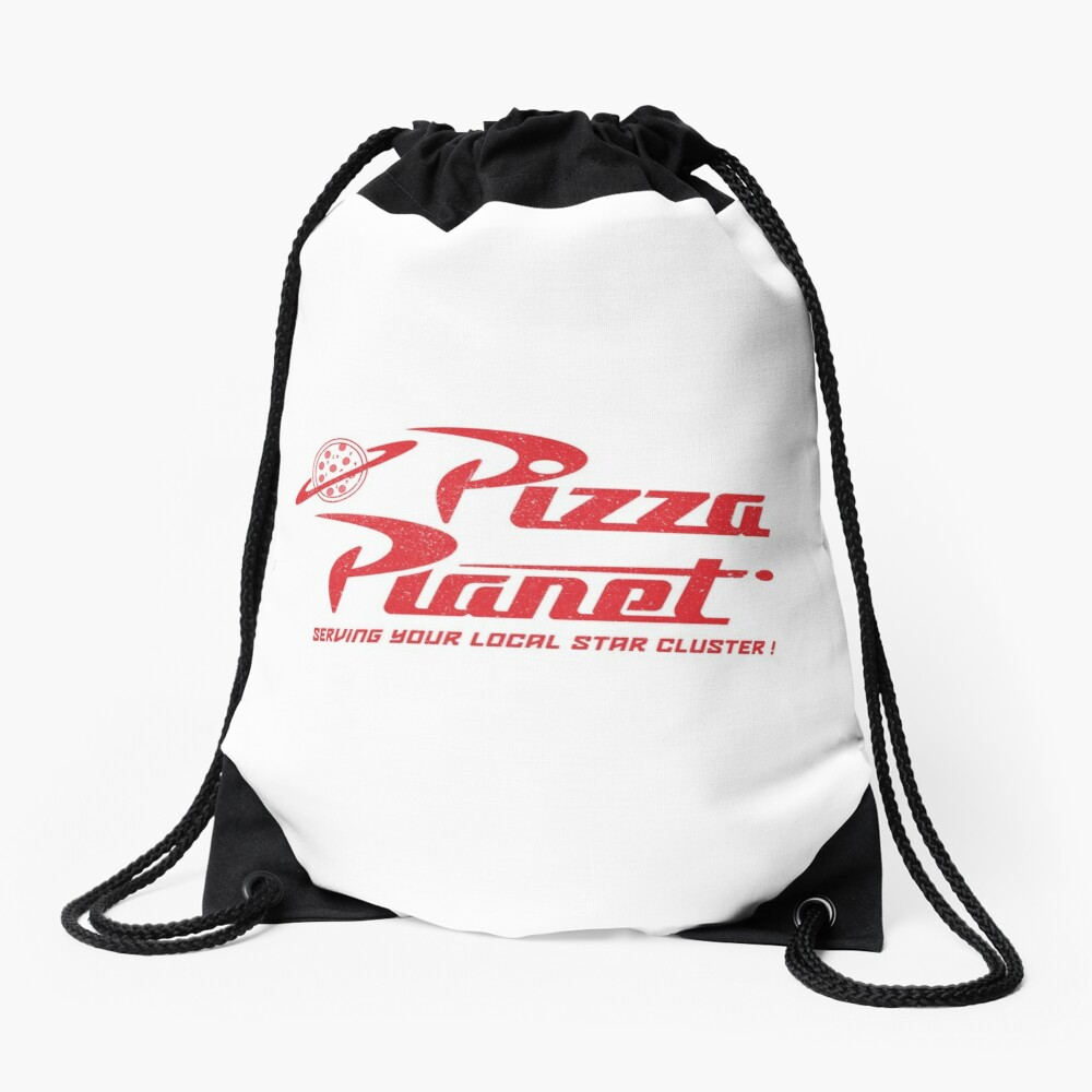 Pizza Planet Drawstring Bag