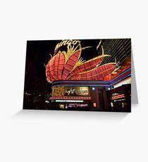 Las Vegas, The Flamingo at night. Greeting Card