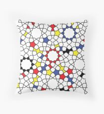 Girih Colors Throw Pillow