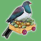 Kereru Pigeon - Box of Birds, kiwifruit and feijoas by SmileDial