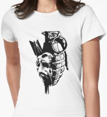 Just the thought of war makes me... Women's Fitted T-Shirt