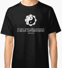 I create opportunities - Bruce Lee - White Text Classic T-Shirt
