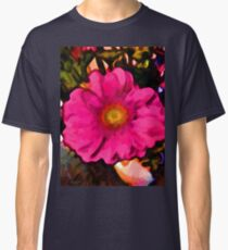 Pink and Yellow Flower with some Orange Classic T-Shirt
