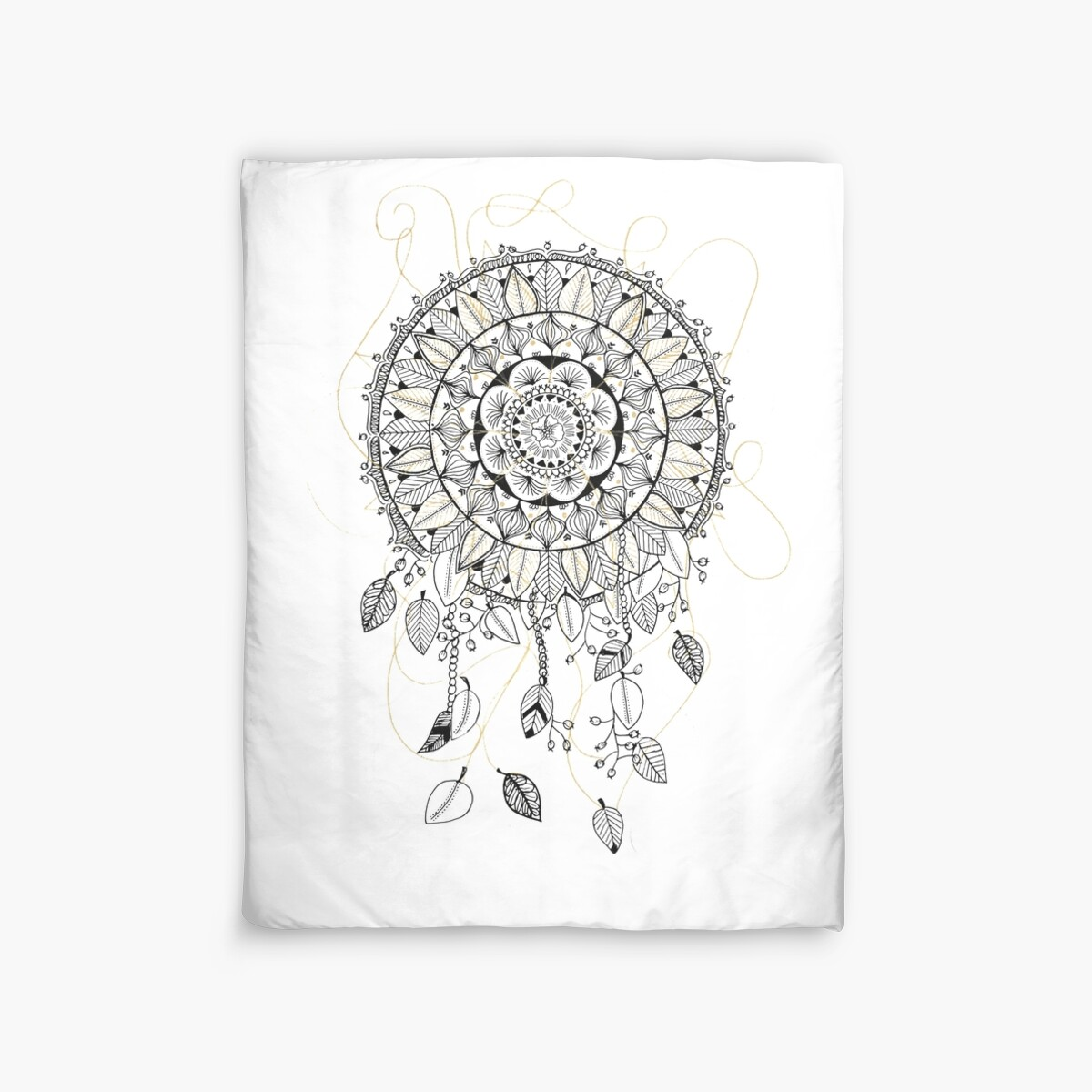 Mandala dreamcatcher attrape r ve housses de couette for Housse de couette attrape reve