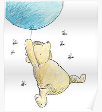 Classic Winnie the Pooh & Bees Sketch Poster