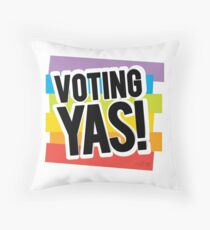 Voting YAS Throw Pillow