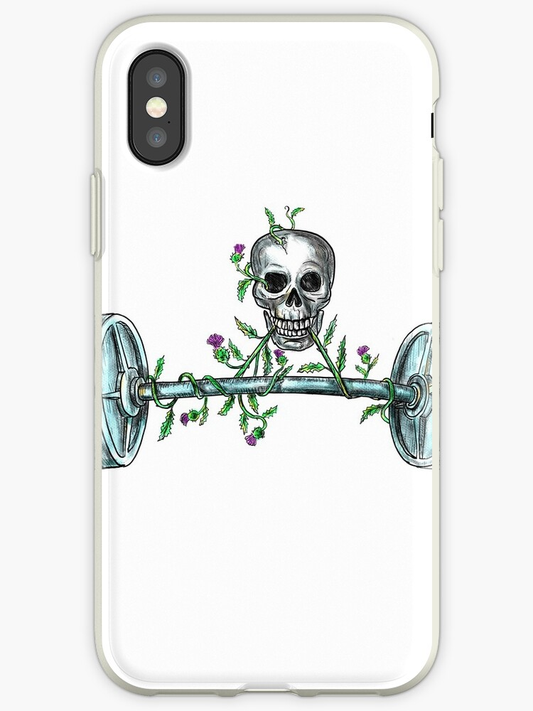 3bd99d649 Skull Lifting Barbell Thistle Tattoo