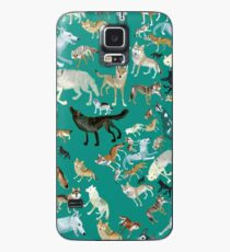 Wolves of the World (Green pattern) Funda/vinilo para Samsung Galaxy