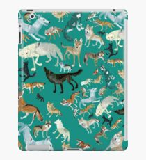 Wolves of the World (pattern) (c) 2017 iPad Case/Skin