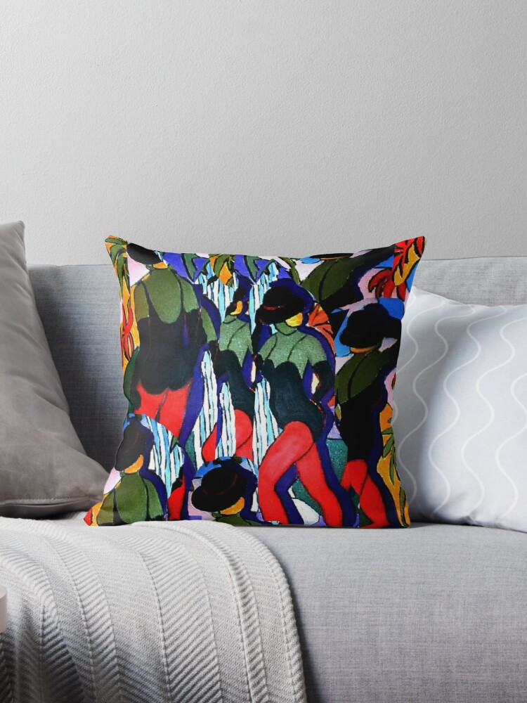 Dancing on the Falls in Tee Shirt, tote bag, cushion, throw pillow, Style by Virginia McGowan
