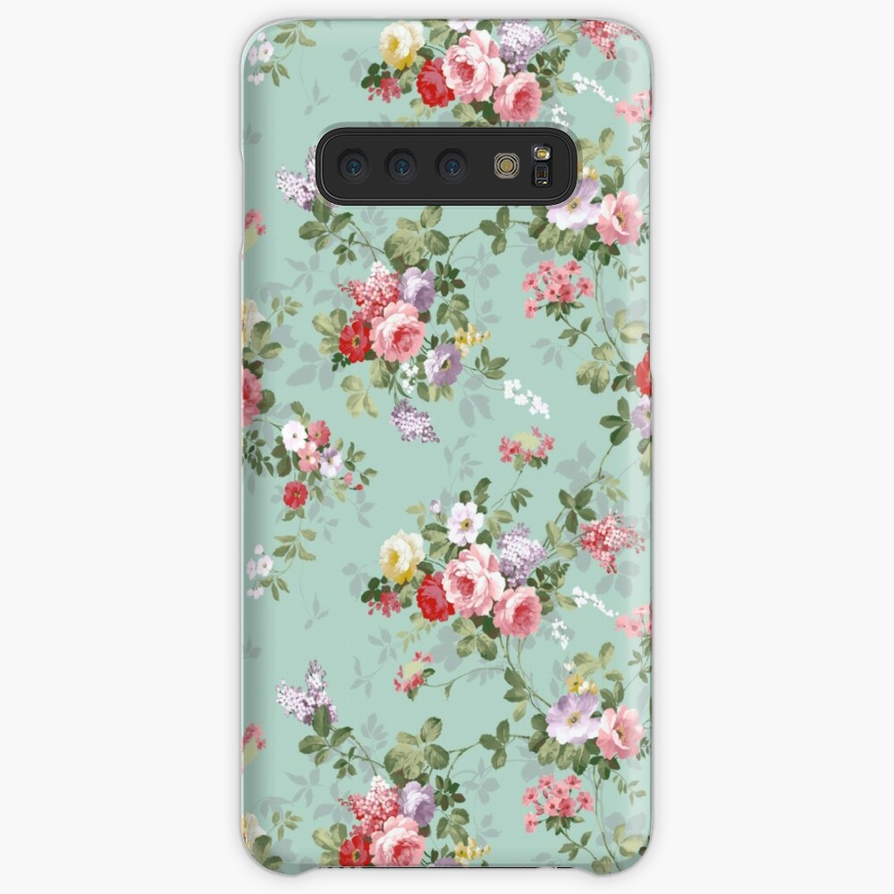 Chic elegant pink roses beautiful flowers pattern Case & Skin for Samsung Galaxy