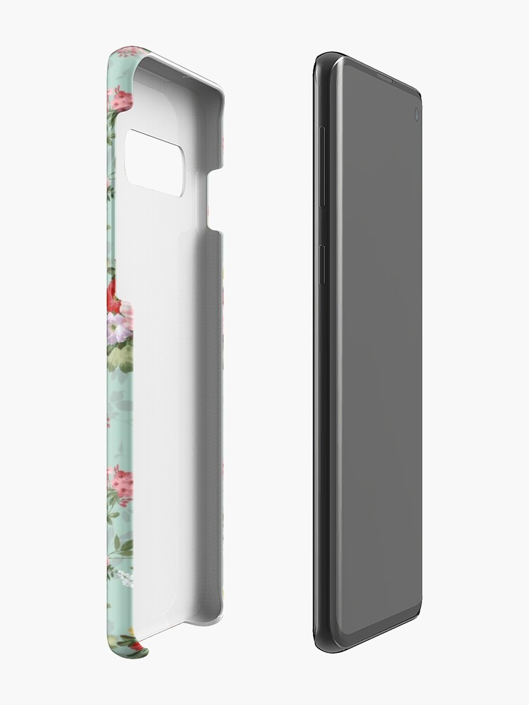 Alternate view of  Chic elegant pink roses beautiful flowers pattern Case & Skin for Samsung Galaxy