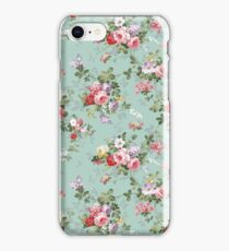 Chic elegant pink roses beautiful flowers pattern iPhone Case/Skin
