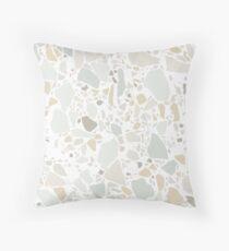 White Terrazzo | Texture  Throw Pillow