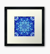 Ice Matrix Mandala Framed Print