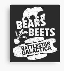 Bears. Beets. Battlestar Galactica Canvas Print