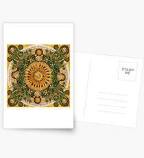"""Floral Aztec calendar"" Postcards"