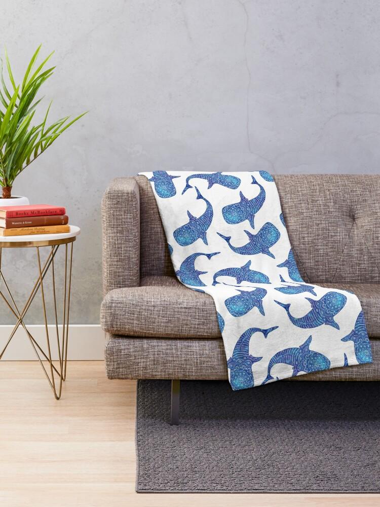 Alternate view of Marokintana - Whale Shark I Throw Blanket