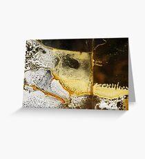 Yellow & White #1 Greeting Card