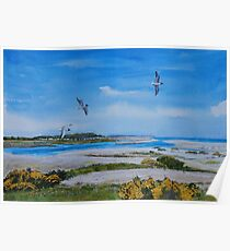 Blue Day - Spey Bay Poster