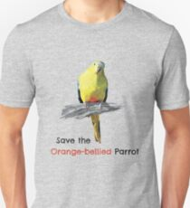 Save the Orange-bellied Parrot items (light background colours) Unisex T-Shirt