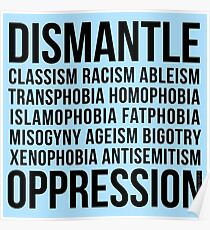 Dismantle Oppression • riotcakes Original Design • Social Justice • Political Poster