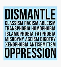 Dismantle Oppression • riotcakes Original Design • Social Justice • Political Photographic Print