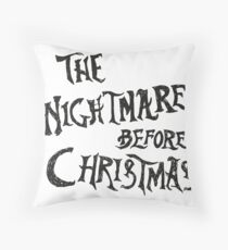 THE NIGHTMARE BEFORE CHRISTMAS TITTLE Throw Pillow