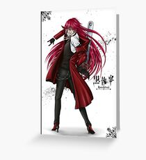 Grell : Red Death Greeting Card