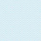 Pale Blue Thin Chevron by Nicola  Pearson