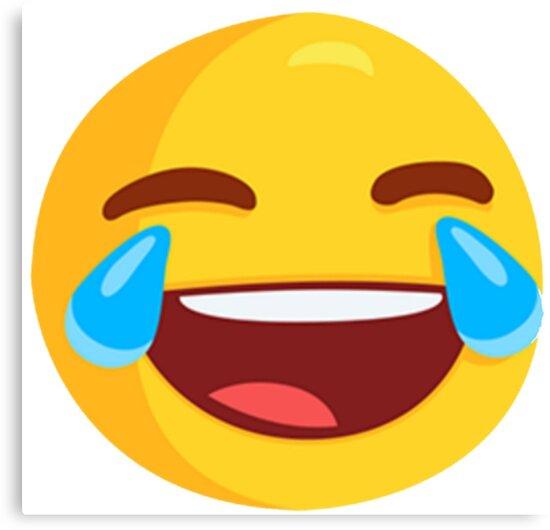 Tränen der Freude Lachen Emoji Leinwanddrucke von