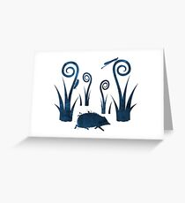 Hedgehog, beetle, damselfly  Greeting Card