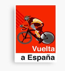 VUELTA a ESPANA : Vintage Cycle Racing Advertising Print Canvas Print