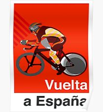 VUELTA a ESPANA : Vintage Cycle Racing Advertising Print Poster