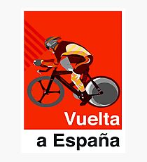 VUELTA a ESPANA : Vintage Cycle Racing Advertising Print Photographic Print