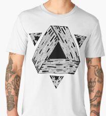 Psychedelic geometry Men's Premium T-Shirt