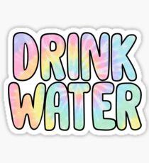 Pegatina beber agua