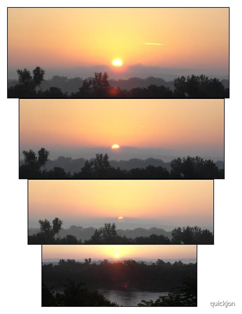 Sunrise over the Missouri River by quickjon