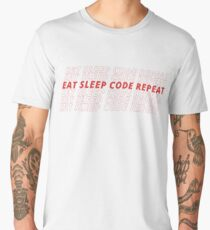 EAT SLEEP CODE REPEAT Men's Premium T-Shirt
