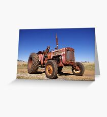 Tractor hound Greeting Card