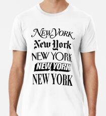 New York, New York Männer Premium T-Shirts