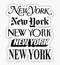 New York New York Sticker