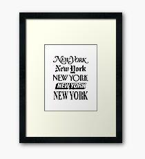 New York, New York Gerahmtes Wandbild