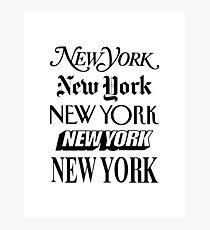 New York, New York Fotodruck