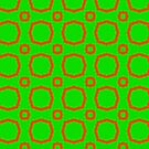 Electric pattern 1 - Red circles on a green background by Silvia Ganora