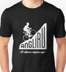 """Angliru climb """"El infierno empieza aquí"""" cycling Vuelta España T-Shirt"""
