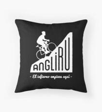 """Angliru climb """"El infierno empieza aquí"""" cycling Vuelta España Floor Pillow"""