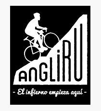 """Angliru climb """"El infierno empieza aquí"""" cycling Vuelta España Photographic Print"""