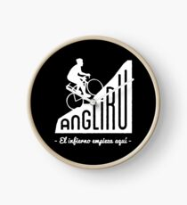 "Angliru climb ""El infierno empieza aquí"" cycling Vuelta España Clock"