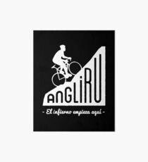 "Angliru climb ""El infierno empieza aquí"" cycling Vuelta España Art Board"